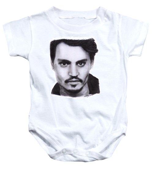 Johnny Depp Drawing By Sofia Furniel Baby Onesie