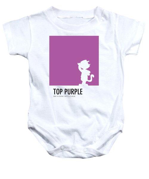 No11 My Minimal Color Code Poster Top Cat Baby Onesie