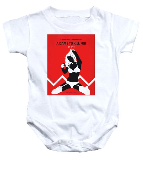 No304-2 My Sin City A Dame To Kill For Minimal Movie Poster Baby Onesie