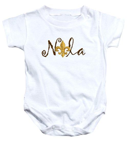 Nola In Brown Baby Onesie