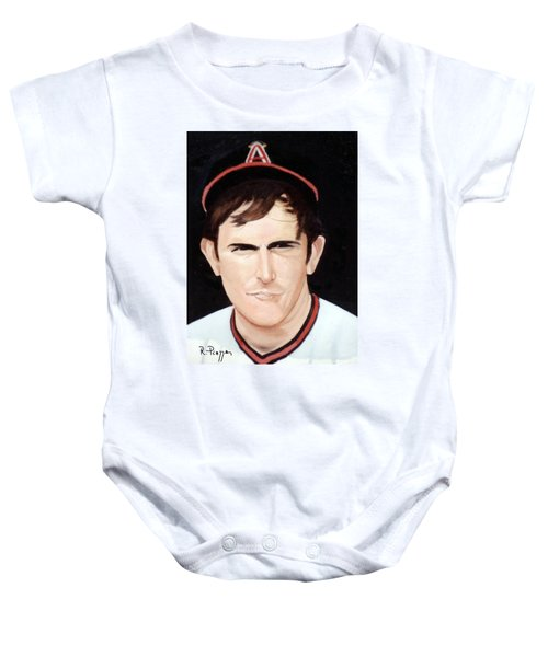 Nolan Ryan With The Angels Baby Onesie