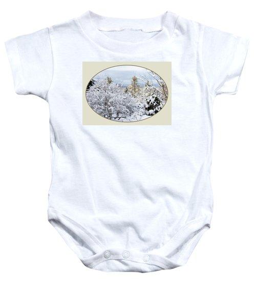 northeast USA photography button Baby Onesie