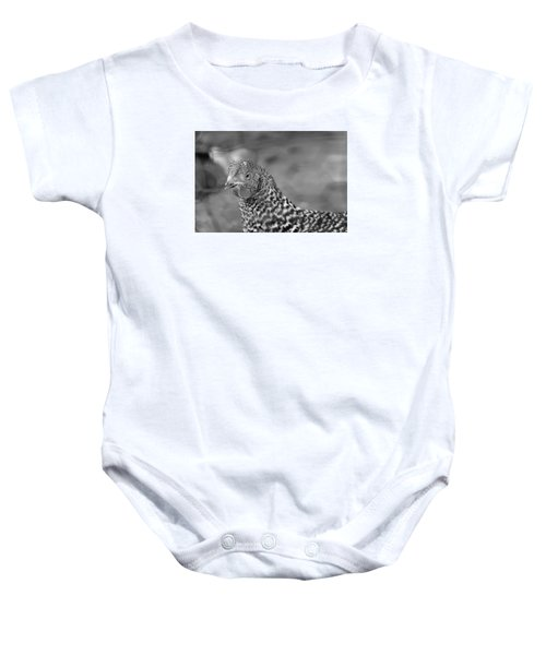 Baby Onesie featuring the photograph Not Your Chicken Dinner by Lora Lee Chapman