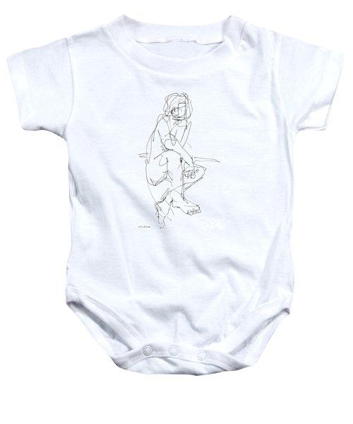 Nude_male_drawing_29 Baby Onesie