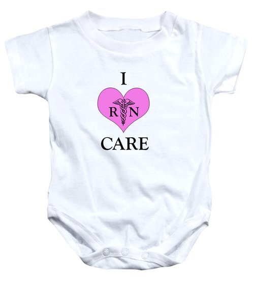 Nursing I Care -  Pink Baby Onesie by Mark Kiver