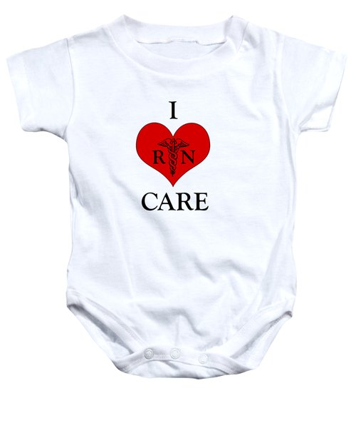 Nursing I Care -  Red Baby Onesie