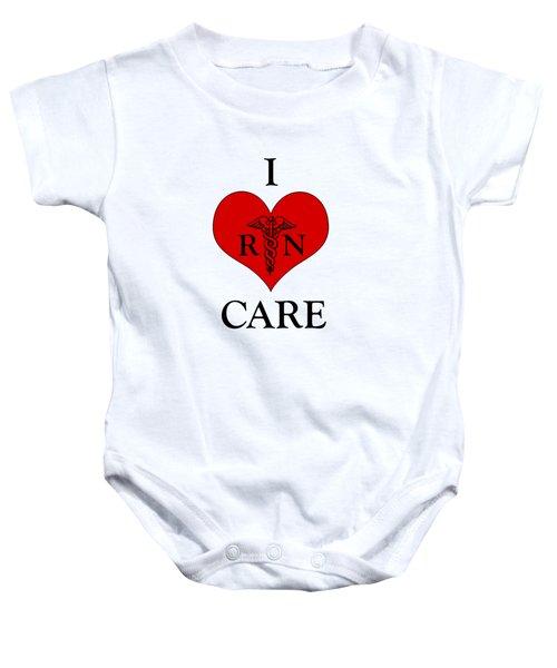 Nursing I Care -  Red Baby Onesie