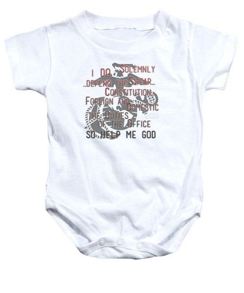 Baby Onesie featuring the mixed media Oath by TortureLord Art