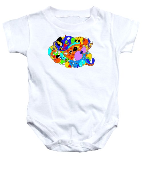 Ocean Life Baby Onesie by Sally Bosenburg
