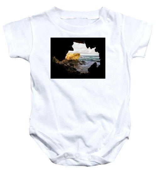 Oceanfront Cave Baby Onesie