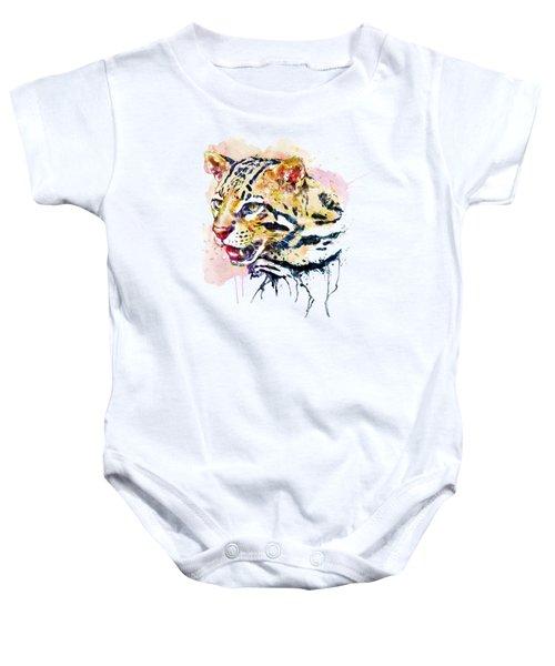 Ocelot Head Baby Onesie