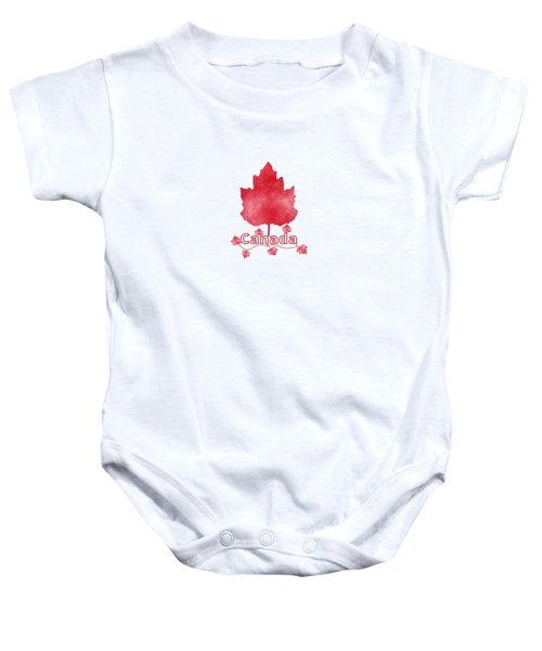 Oh Canada Baby Onesie by Kathleen Sartoris