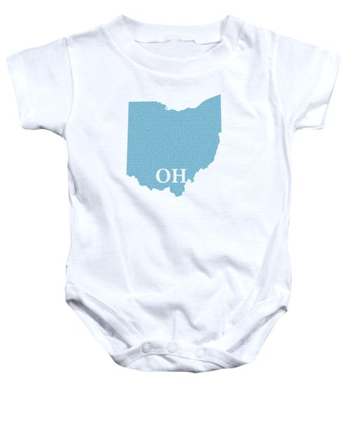 Ohio State Map With Text Of Constitution Baby Onesie