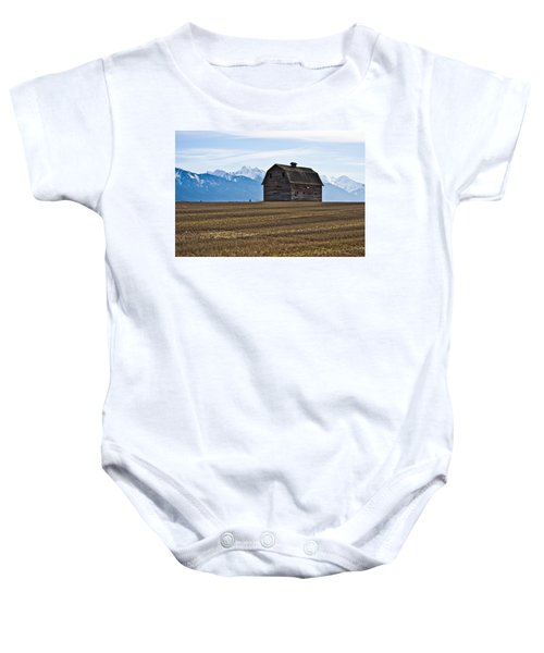 Old Barn, Mission Mountains 2 Baby Onesie
