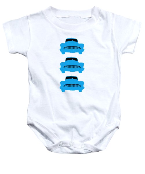 Old Buicks Blue Times Three Baby Onesie