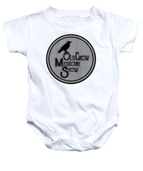Old Crow Medicine Show Sign Baby Onesie by Little Bunny Sunshine