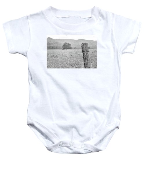 Old Fence Post Baby Onesie