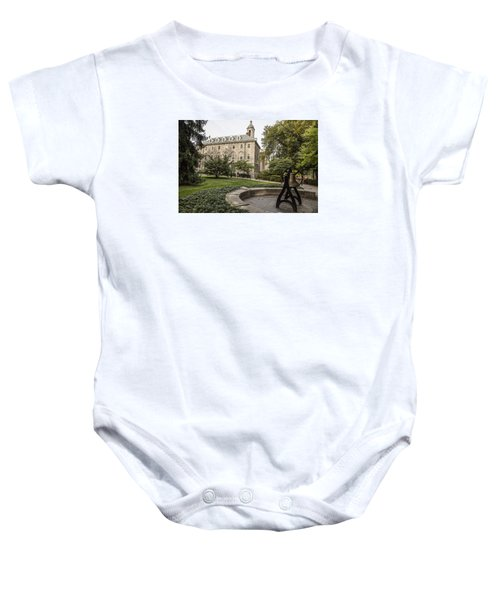 Old Main Penn State Bell  Baby Onesie