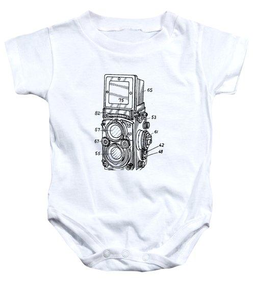 Old Rollie Vintage Camera T-shirt Baby Onesie