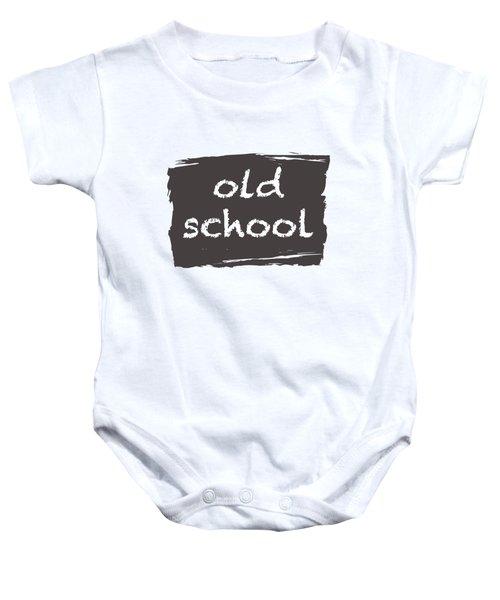 Old School Baby Onesie