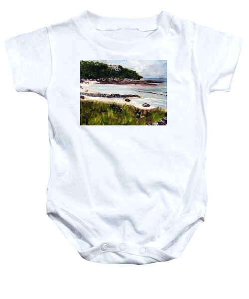 Old Silver Beach Falmouth Baby Onesie