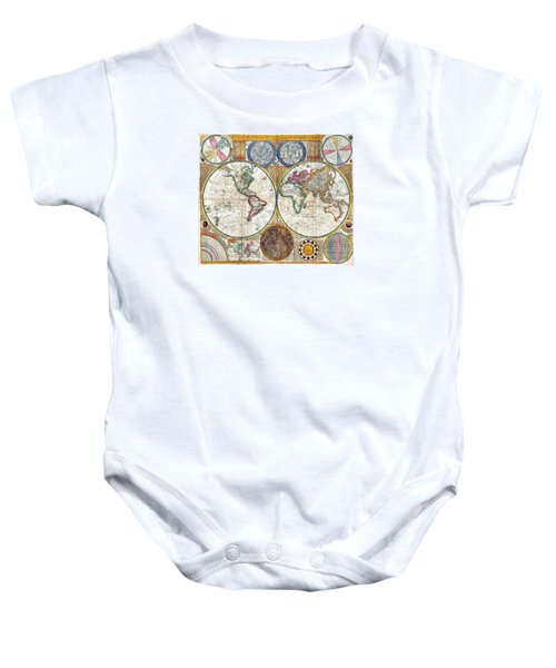 Old World Map Print From 1794 Baby Onesie