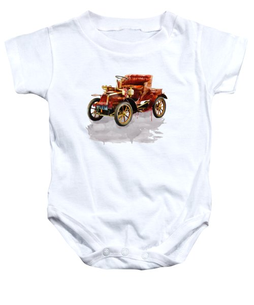 Oldtimer Car Watercolor Baby Onesie