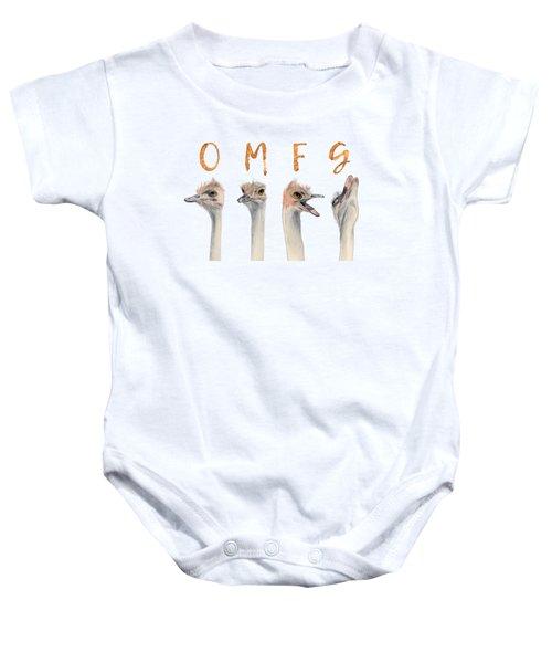 Omfg Ostirches Baby Onesie