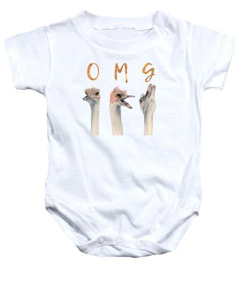Omg Ostriches Baby Onesie