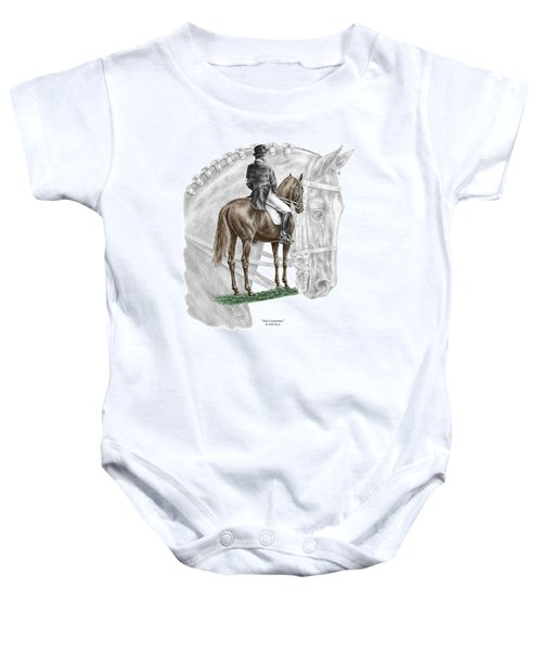 On Centerline - Dressage Horse Print Color Tinted Baby Onesie