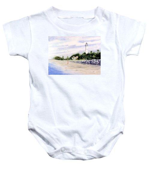 On The Beach At St. Simon's Island Baby Onesie