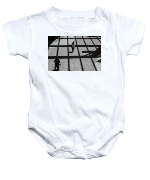 Baby Onesie featuring the photograph On The Grid by Eric Lake