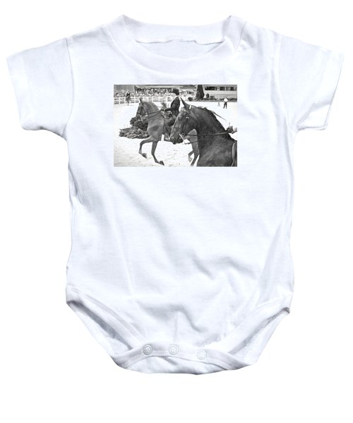On The Outside Charcoal Baby Onesie