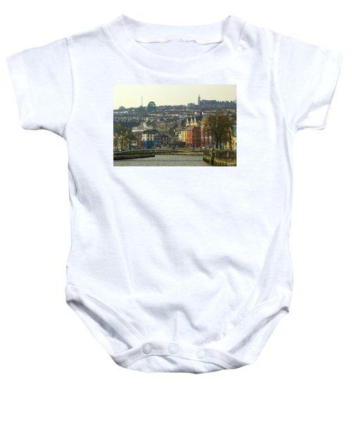 On The River Lee, Cork Ireland Baby Onesie