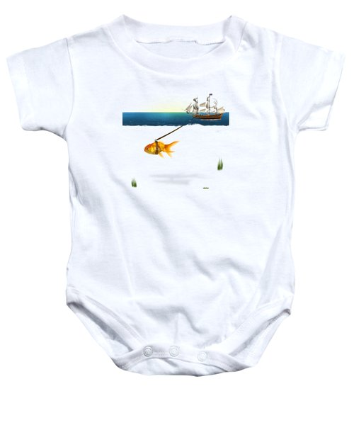 On The Way  Baby Onesie by Mark Ashkenazi