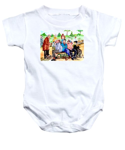 Once Upon A Park Bench Baby Onesie