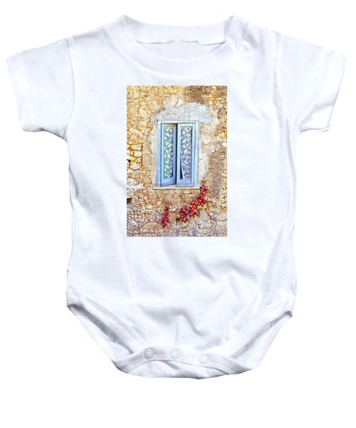 Onions And Garlic On Window Baby Onesie