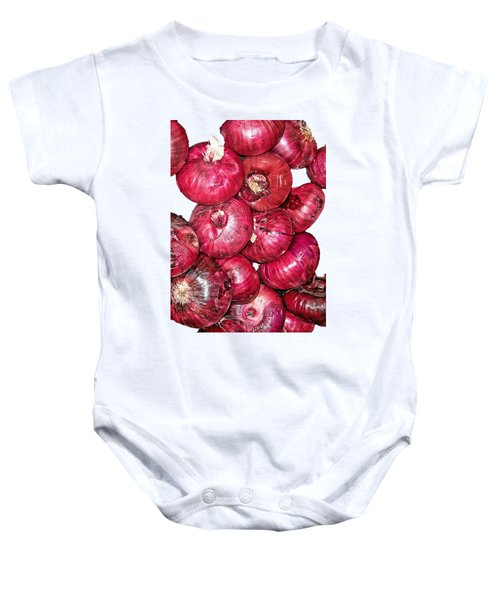 Onions Baby Onesie by Larry Bishop
