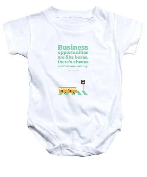 Opportunities Motivational Inspirational Typography Quotes Poster Baby Onesie