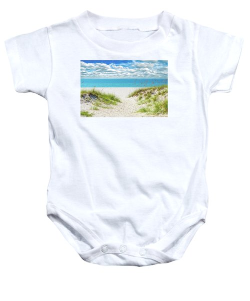 Orange Beach Al Seascape 1086a Baby Onesie