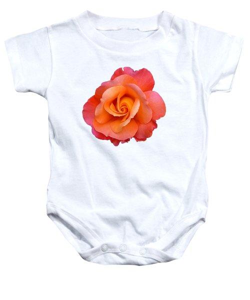 Orange Rosebud Highlight Baby Onesie