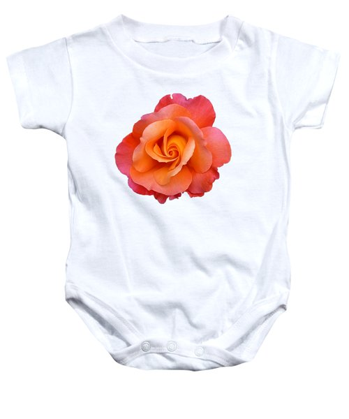 Orange Rosebud Highlight Baby Onesie