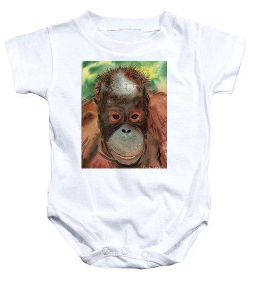 Orangutan Baby Onesie by Donald Maier