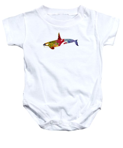 Orca - Killer Whale Drawing Baby Onesie by World Art Prints And Designs