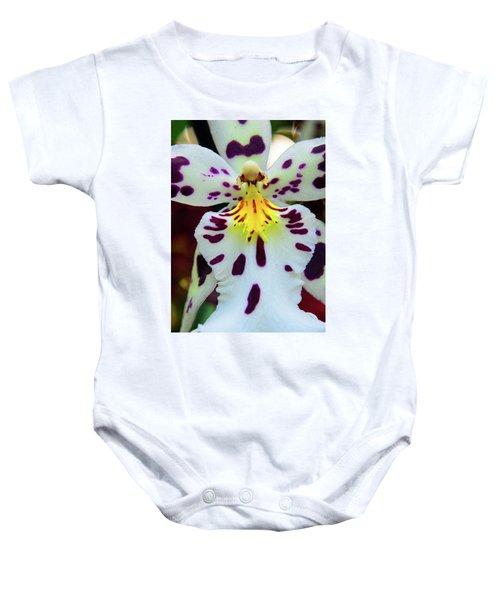 Orchid Cross Baby Onesie