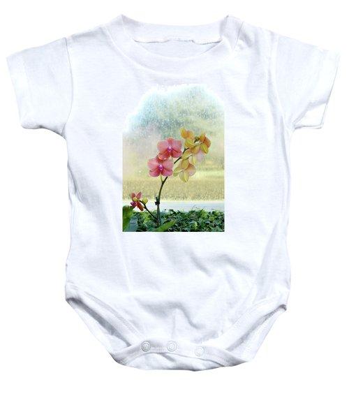 Orchid In Portrait Baby Onesie