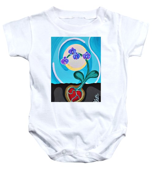 Orchids For My Love Baby Onesie