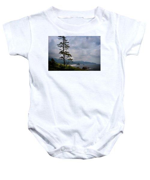 Oregon Ocean Vista Baby Onesie