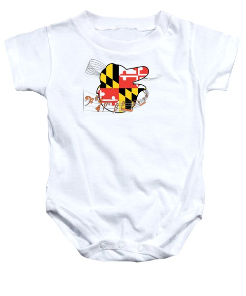 Oriole Sheet Music Design Baby Onesie by Justin Canose