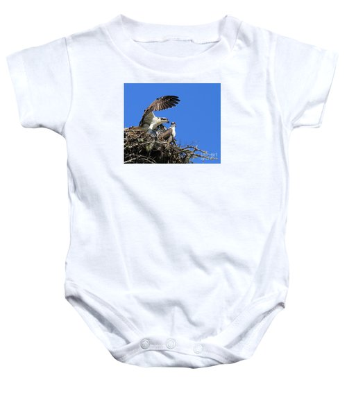 Osprey Chicks Ready To Fledge Baby Onesie